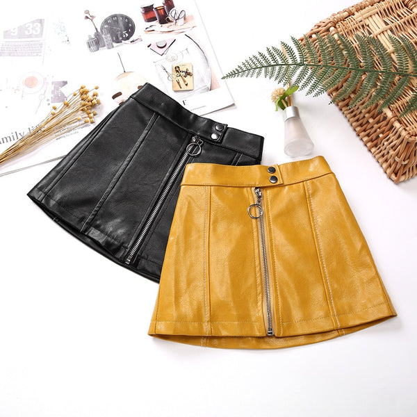 """Pretty In Pleather"" KIDS skirt"