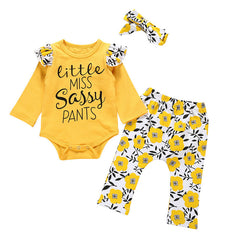 "Baby Model Nezra is wearing the ""Little Miss Sassy Pants"" 3 Piece Set"