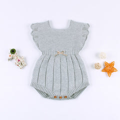 """Bella"" Knitted Girls Romper"