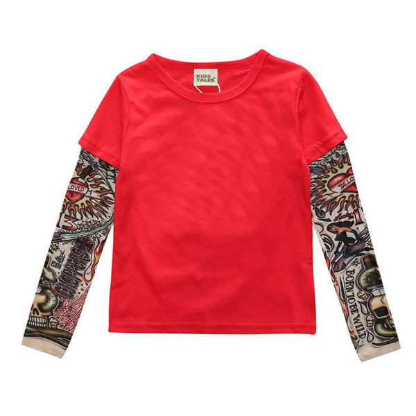 """Punk"" Toddler Tattoo Sleeve Tee"
