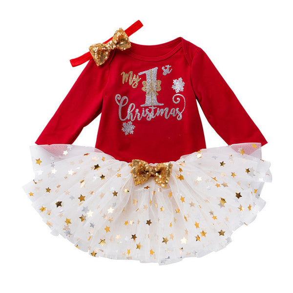 """Christmas Beauty"" 3 Piece Tutu Set"