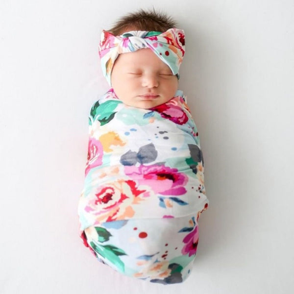 """Carnation"" Newborn Receiving Blanket Set"