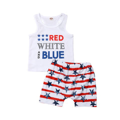 """Red, White, and Blue"" Boys Set"