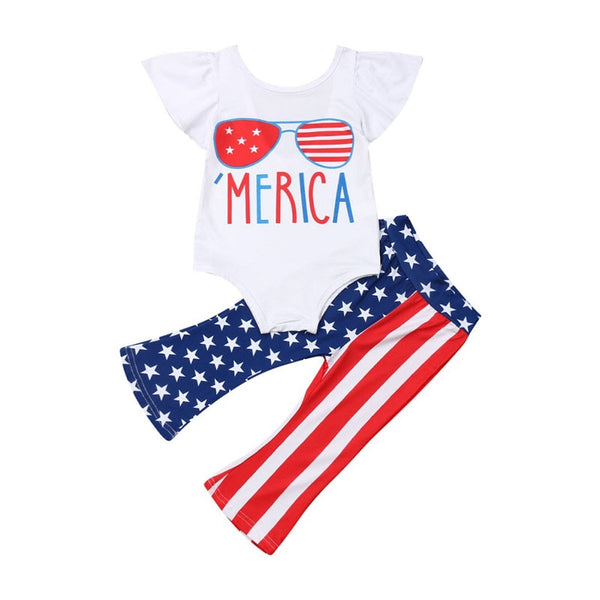 'Merica Bellbottoms Set