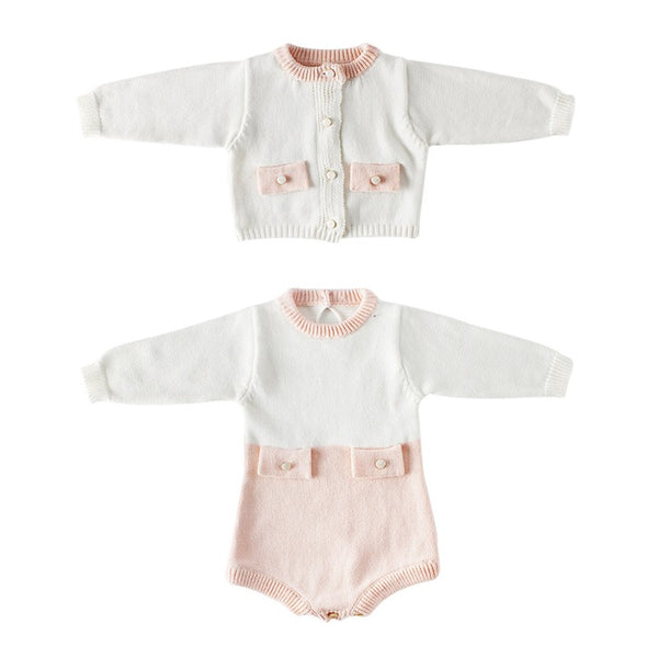 """Sara"" Knitted Cardigan Bodysuit"