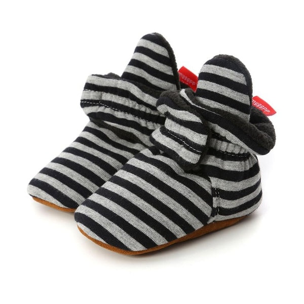 """Stripes"" Wrap Slipper Booties"