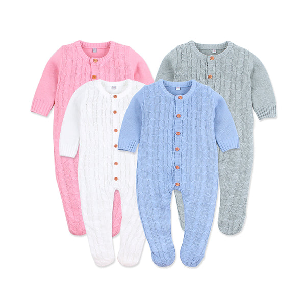 Solid Ribbed Knit Onesie