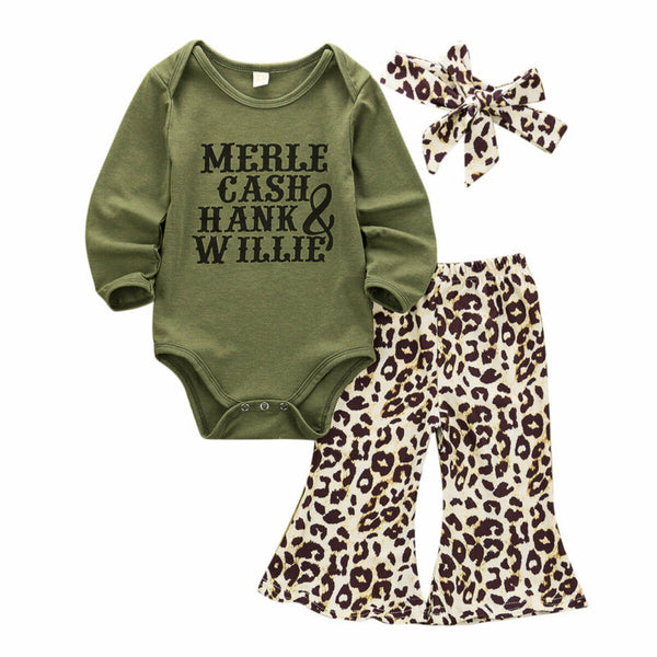 """Hank and Willie"" Leopard Set"