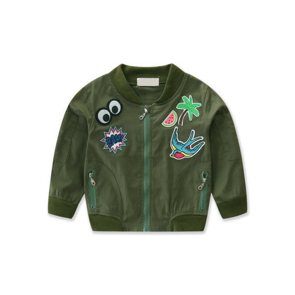 """Pow"" Camouflage Toddler Bomber"