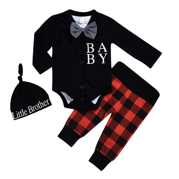 """Baby Gentleman"" Plaid Winter Set"