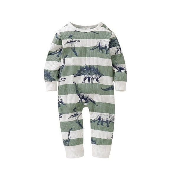"""Dino"" Ribbed Baby Playsuit"