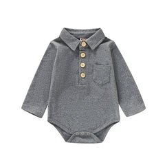 "Solid ""Button Up""  Collared Bodysuit"