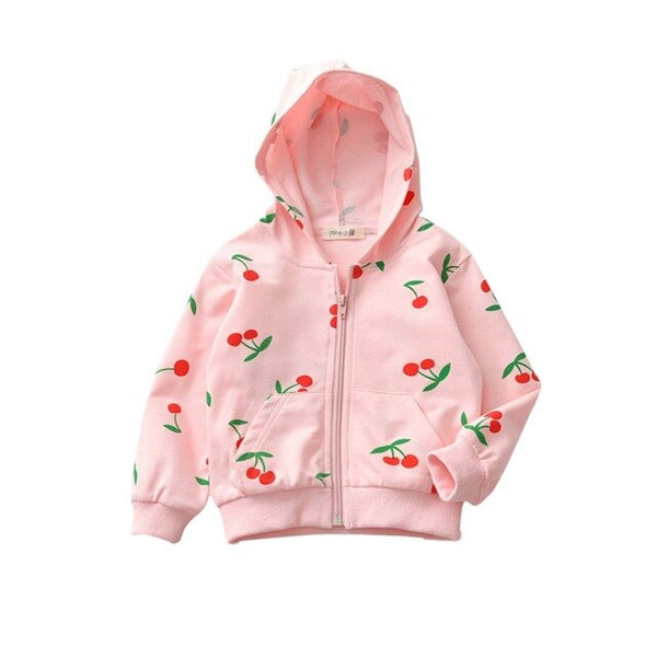 """Cherries"" Zip-Up Hoodie"