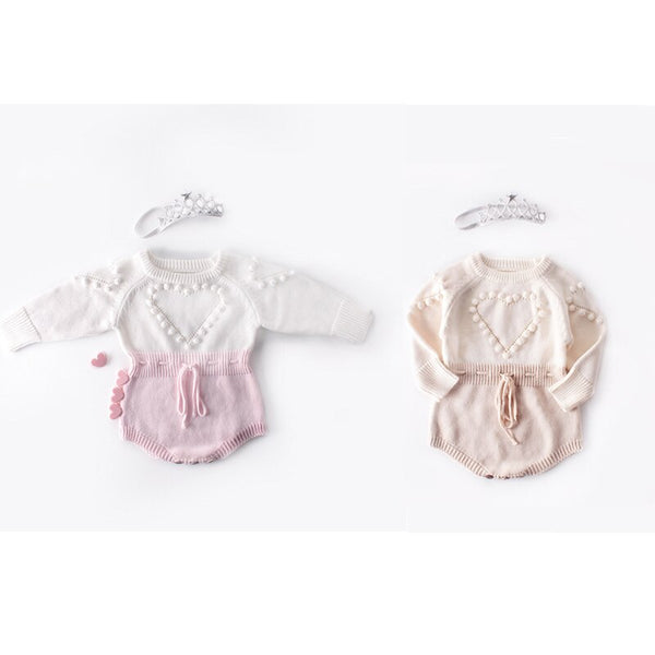 """Lovely Heart"" Knit Romper"