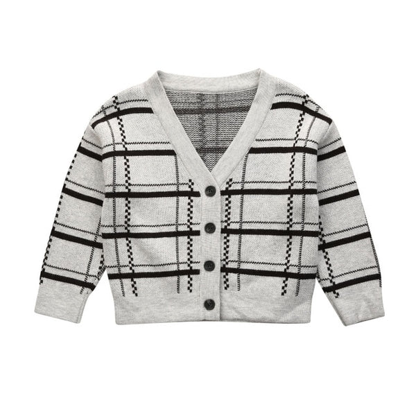"""Criss Cross"" Toddler Knit Cardigan"