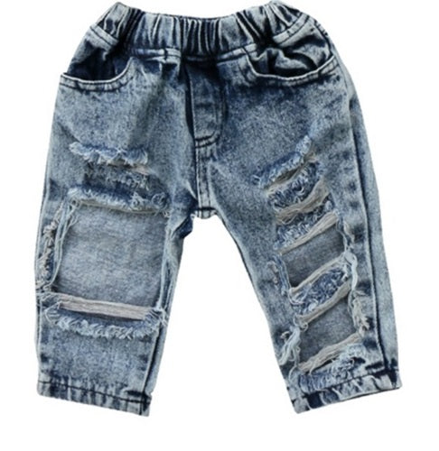 """Distressed"" Denim Pants"
