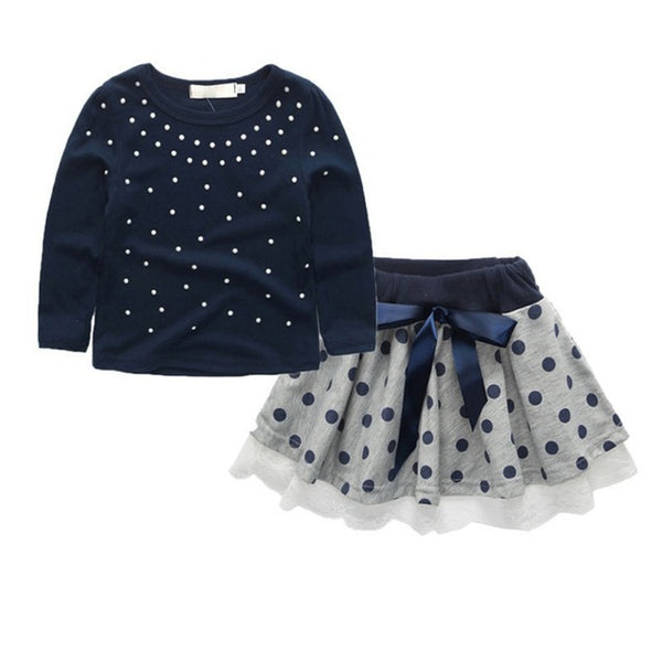 """Pearly Girl"" Polka Dot Dress Set"