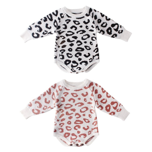 """Leopards"" Knitted Sweater Bodysuit"