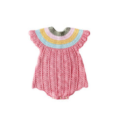 """Alora"" Knitted Infant Romper"