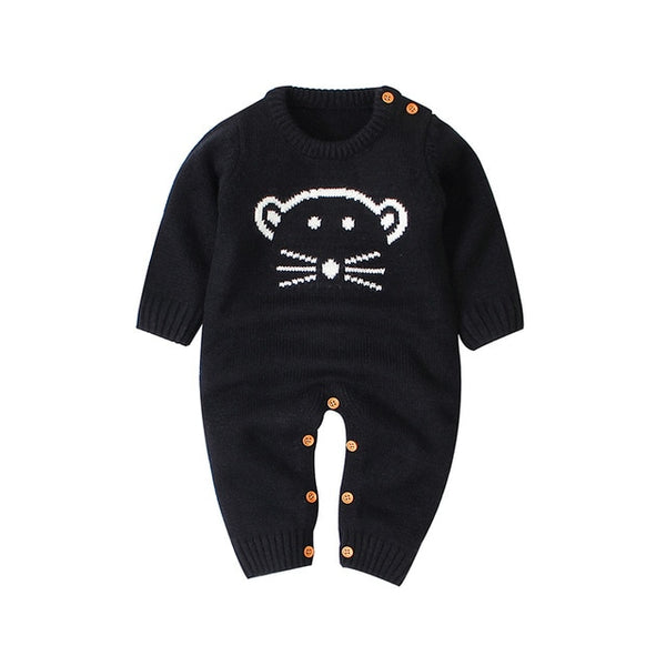 """Mousey"" Boys Knitted Infant Jumpsuit"