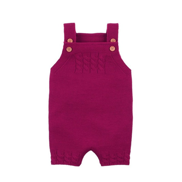 """Dylan"" Knitted Romper Overalls"