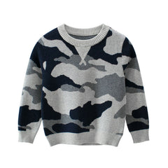"""Camo"" Knit Sweater"