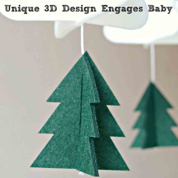 """Woodland Nights"" Felt Crib Mobile"