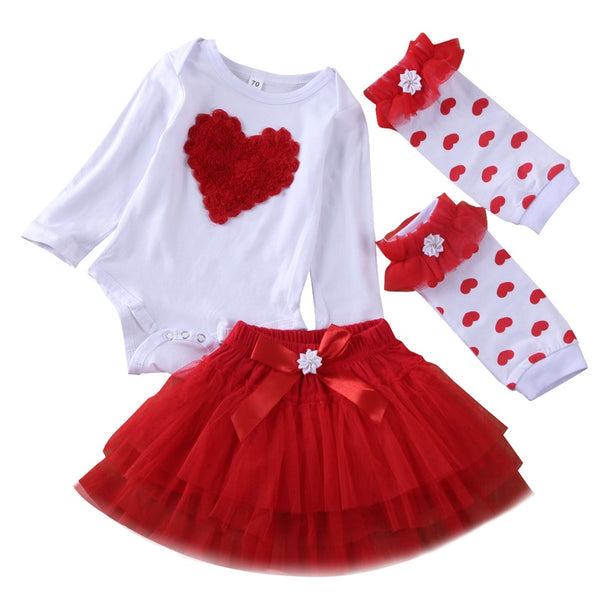 """Valentine Beauty"" 3 Piece Leg Warmer Set"
