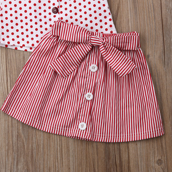"""Polkadots and Bowknots"" 2 Piece Set"