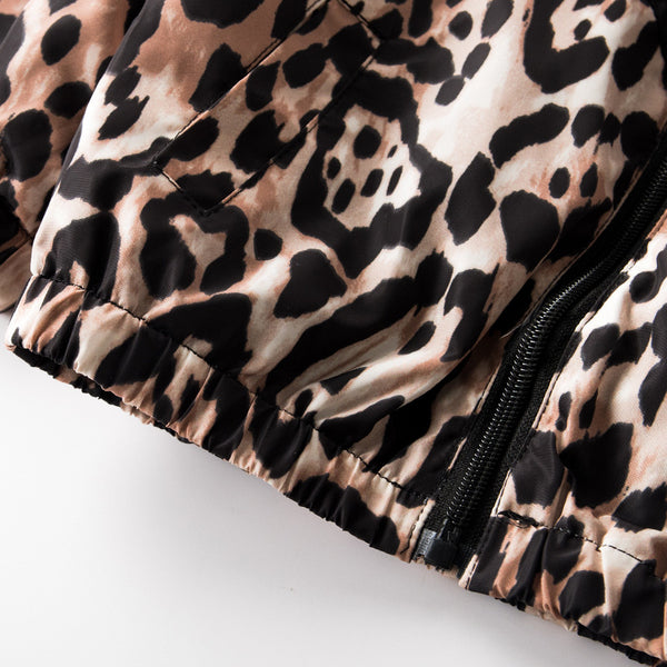 """Leopard"" Track Zip Up"