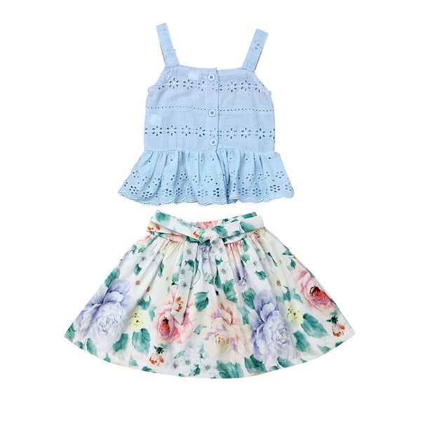 """Summer Blossom"" 2 Piece Skirt Set"