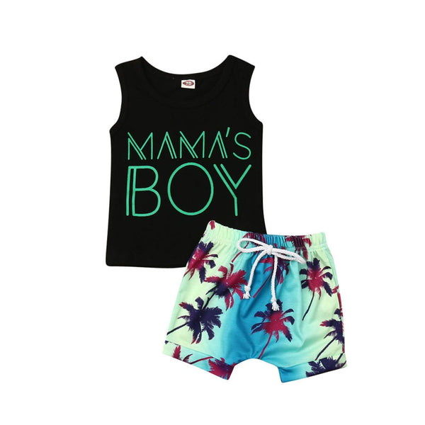 """Mama's Boy"" Hawaiian Set"