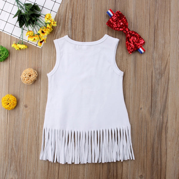 """Freedom"" Fringe Dress with headband"