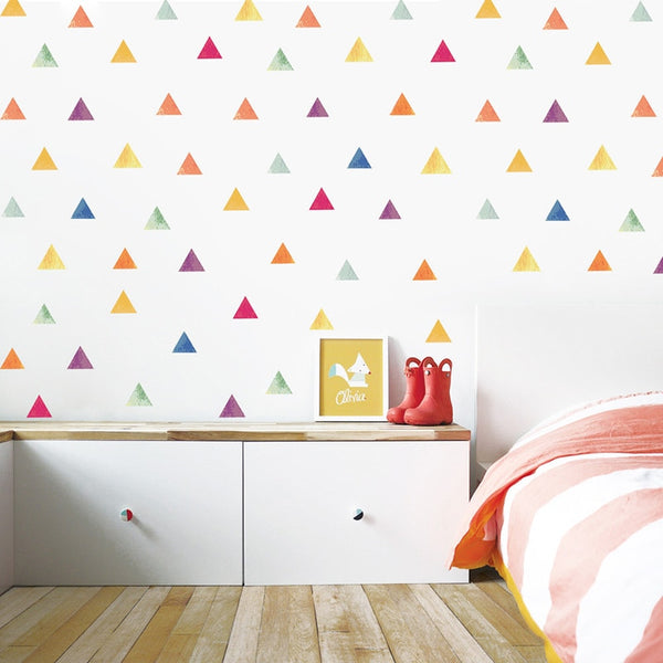 """Painted Triangles"" Wall Decals"