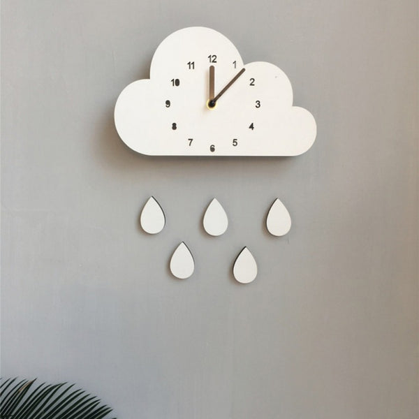 """Raindrop Cloud"" Nordic Wall Clock"
