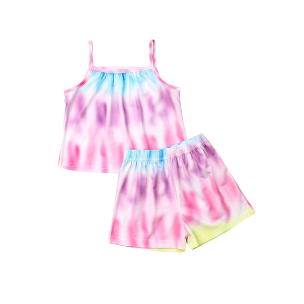 """Leisurewear"" Girls Comfy Tie Die Set"