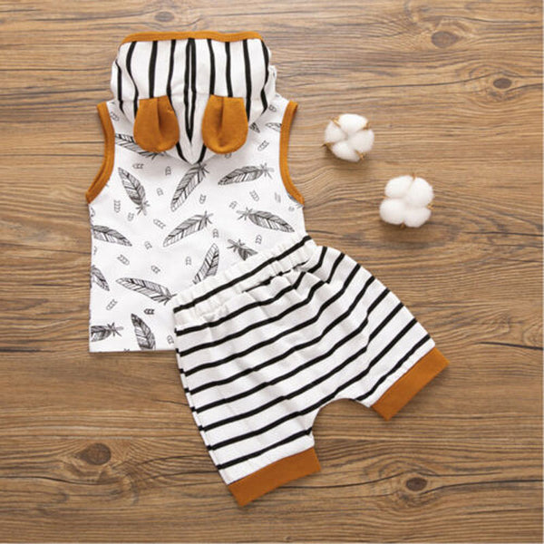 """Yogi"" 2 Piece Hooded Summer Set"