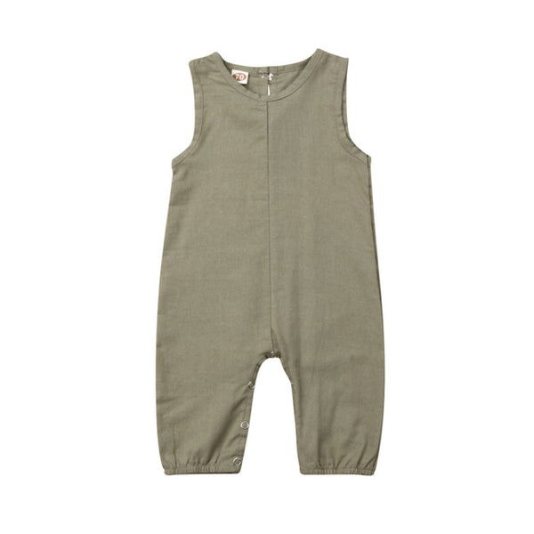 """Basics"" Summer Linen Jumpsuit"