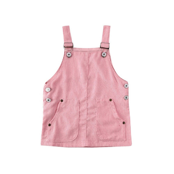 """Cords"" Pastel Overall Dress"