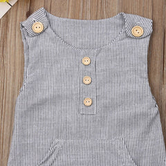 """Linen Stripes"" Baby Onesie"