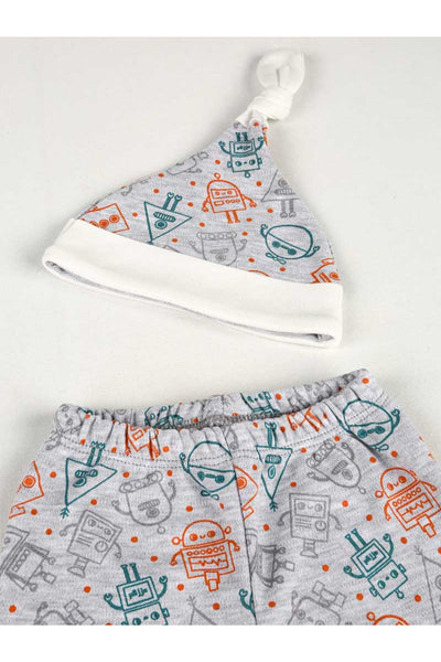 """Space Alien"" Baby Pants/Hat Set"