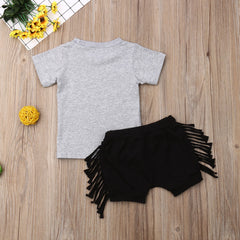 """Attitude"" Tassel Shorts Set"