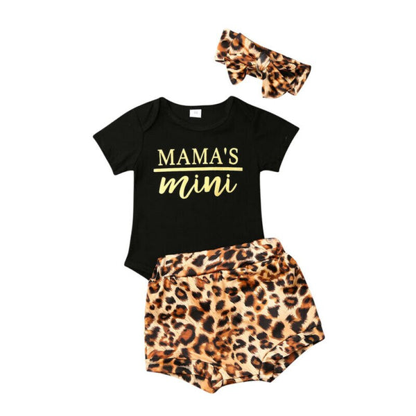 """Mama's Mini"" Leopard 3 Piece Set"