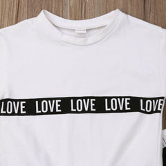 """LOVE LOVE"" Black and White Trackset"