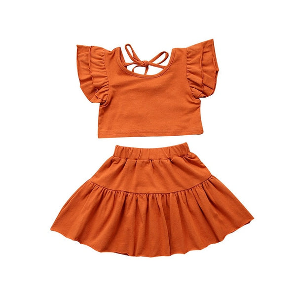 """Bohemia"" Ruffle Sleeve Top Set"