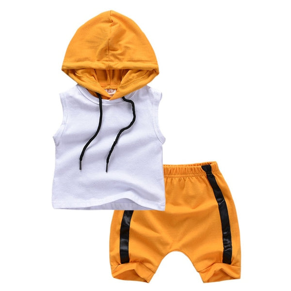 """Yellow Jack"" Summer Hoodie Set"