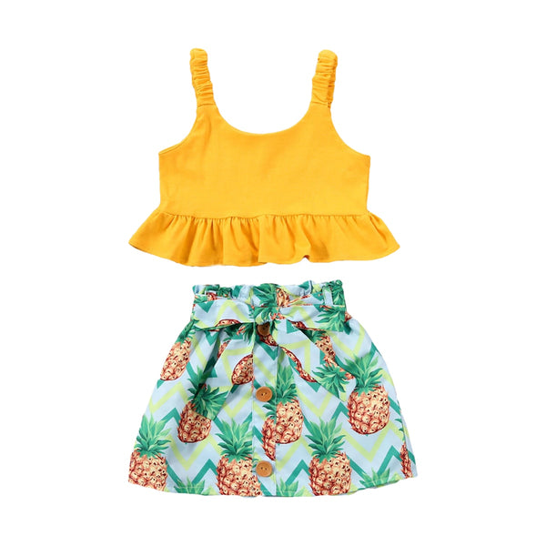 """Pretty Pineapple"" Skirt Set"