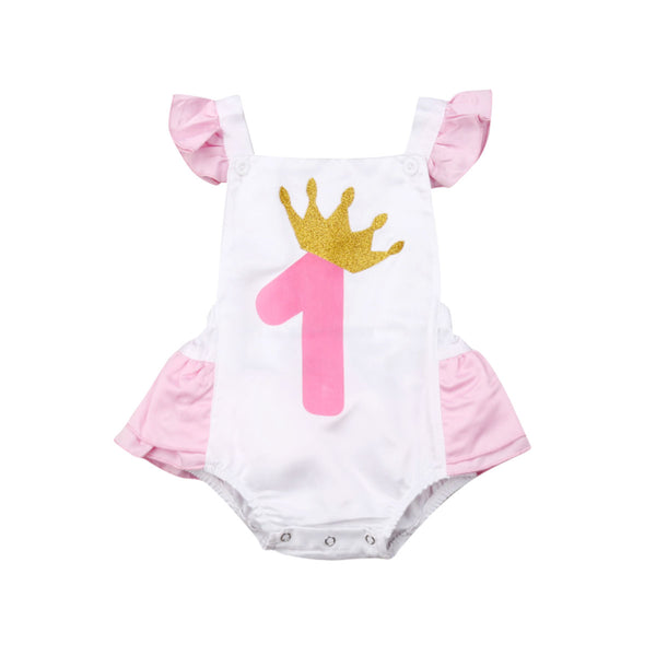 """One Princess"" Ruffle Romper"