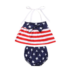 """Stars and Stripes"" Baby Halter Set"