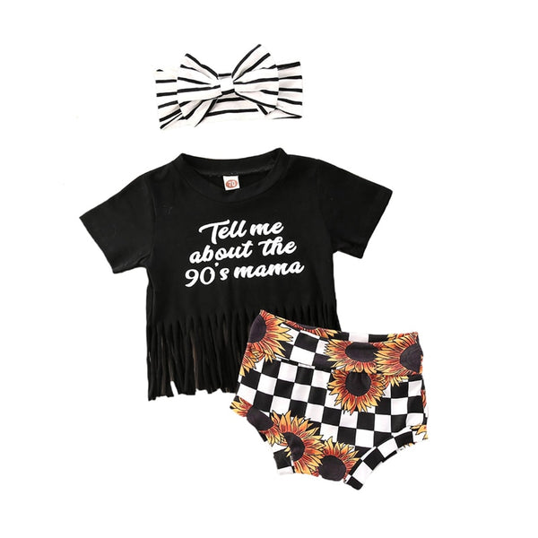"""90's Mama"" 3 Piece Tassel Set"